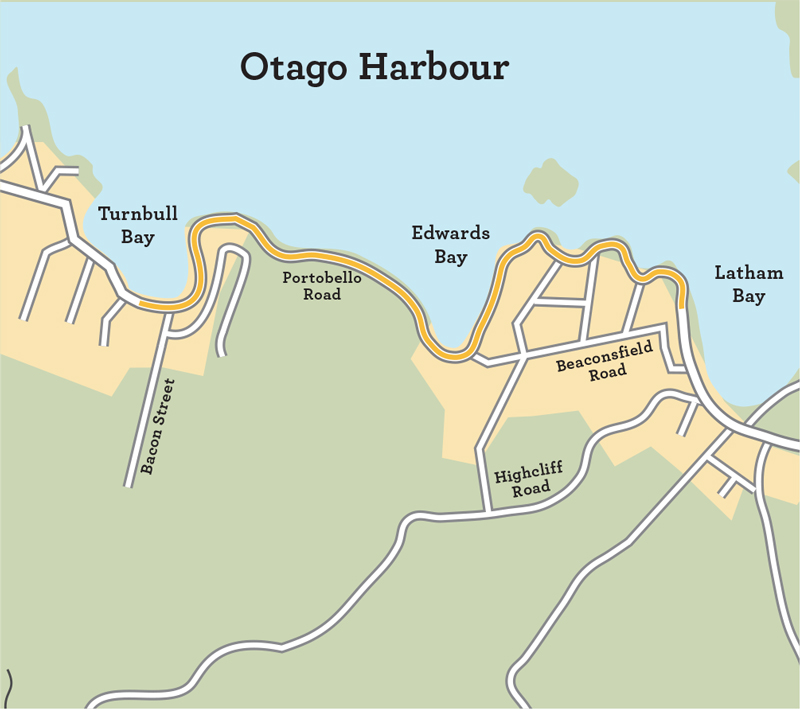 Peninsula connection otago harbour map.