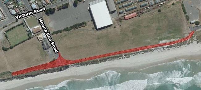 Ocean Beach affected area