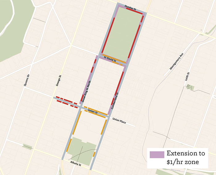 SH1 and nearby streets parking changes March 2019