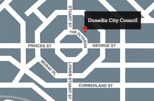 Location of the Dunedin City Council
