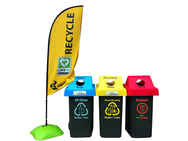 Recycling station at events