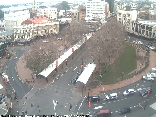 Dunedin, Octagon Live Cam, New Zealand